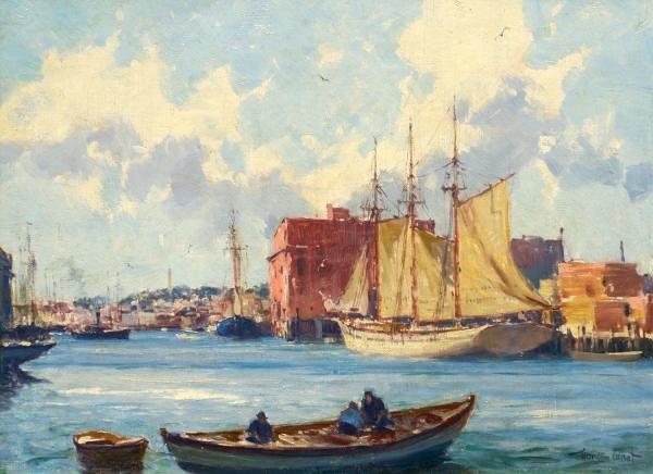 Gordon Grant - Fisherman at Harbor
