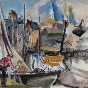 Harbor Scene with Sailboats, William Meyerowitz